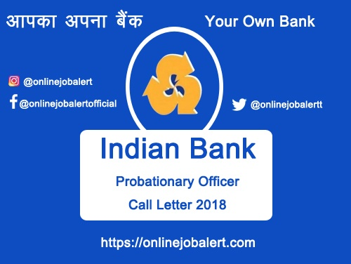 Indian Bank Call Letter